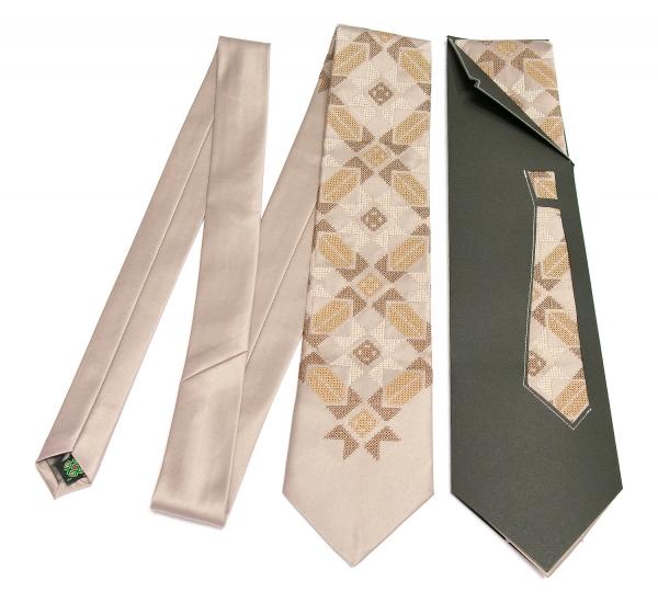 Краватка з вишивкою Щастибог