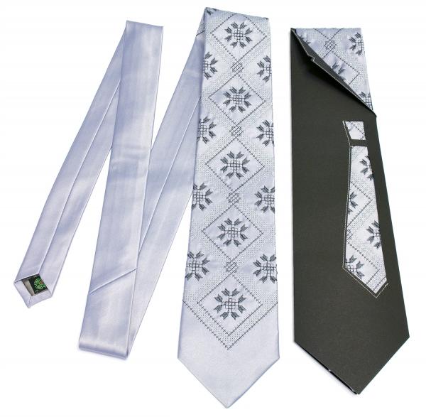 Краватка з вишивкою Дибач