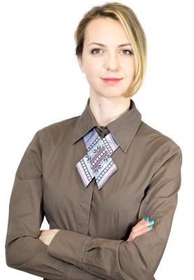 Крос-галстук з вишивкою Млада