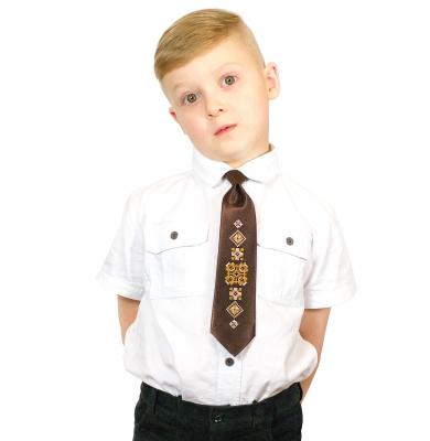 Дитячий галстук з вишивкою Гліб