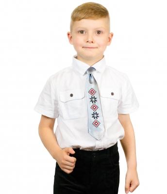 Дитячий галстук з вишивкою Левко
