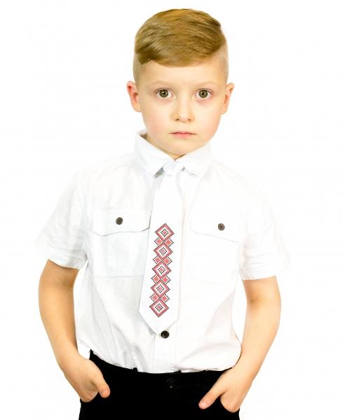 Дитячий галстук з вишивкою Вір