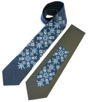 Вишита краватка з льону Синко