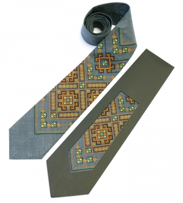Вишита краватка з льону Хот