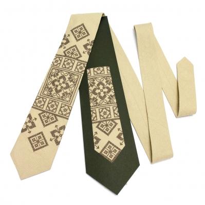 Вишита краватка з льону Лан