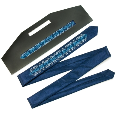 Вузька вишита краватка Годун