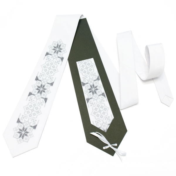 Вишита краватка Білик