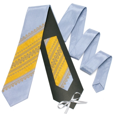 Оригінальна вишита краватка №651
