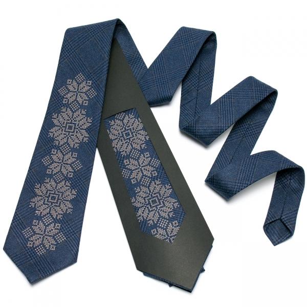 Модна вишита краватка №652