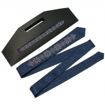 Модна тонка вишита краватка №660