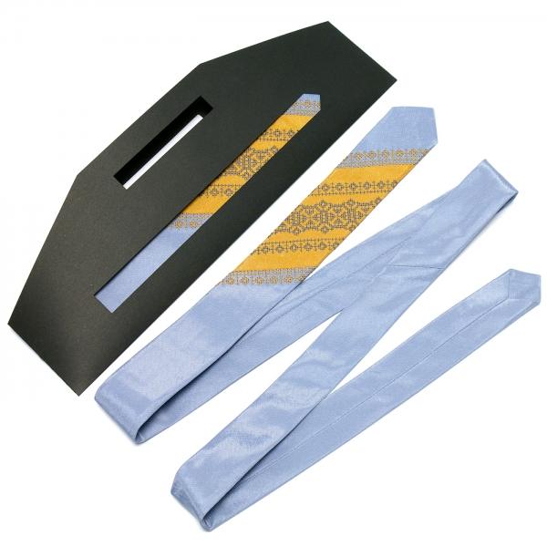 Тонка оригінальна вишита краватка №658