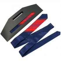 Тонка оригінальна вишита краватка №659