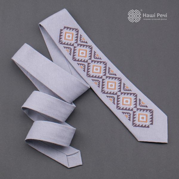 Вишита краватка з льону №927