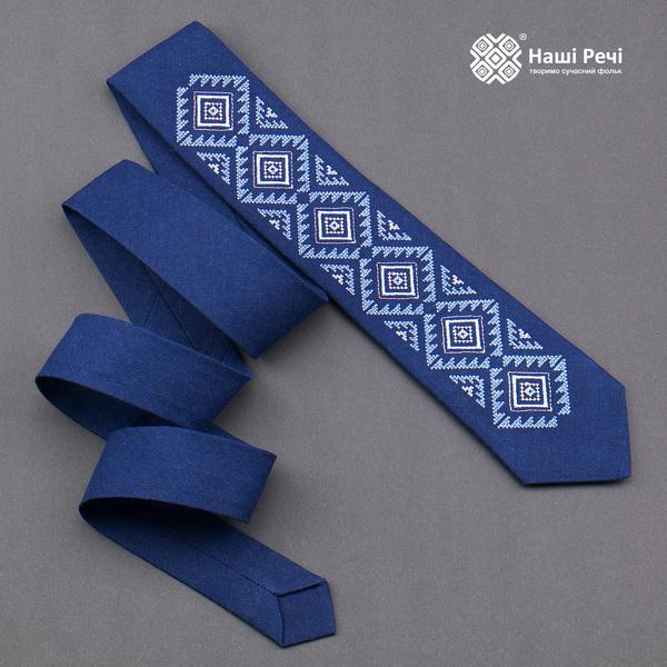 Вишита краватка з льону №929