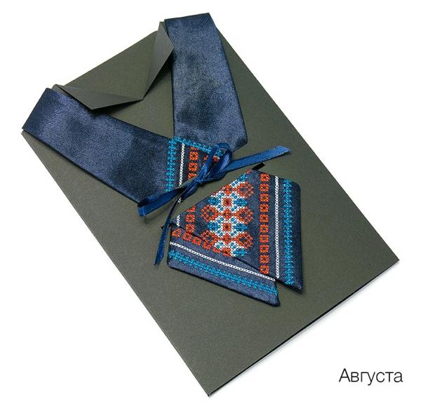 Крос-галстук з вишивкою Августа
