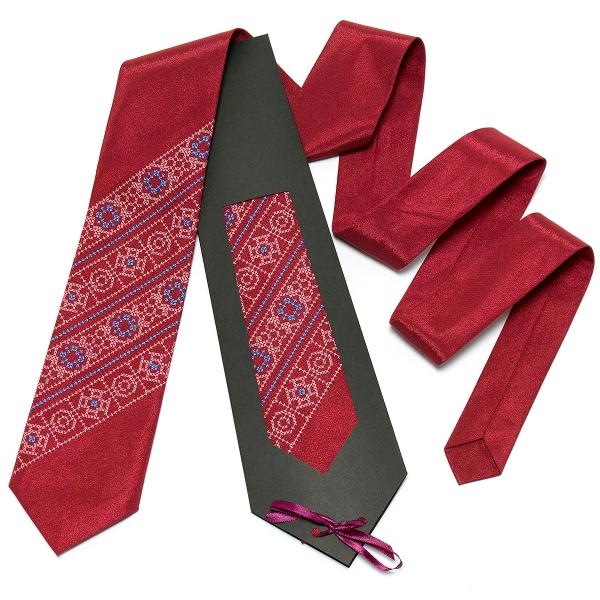 Бордова краватка №615