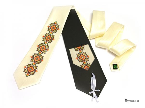 Краватка з вишивкою Буковина