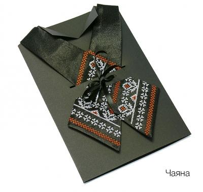 Крос-галстук з вишивкою Чаяна