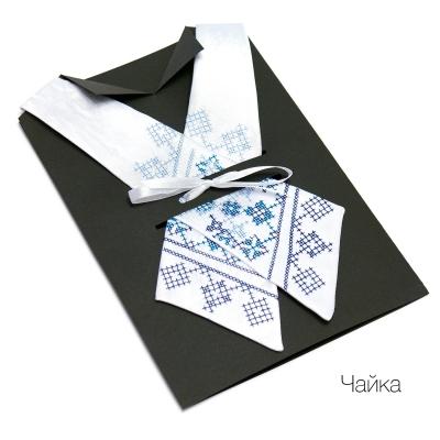 Крос-галстук з вишивкою Чайка