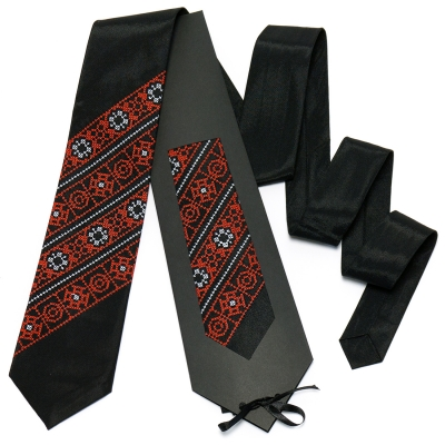 Чорно-червона краватка №613