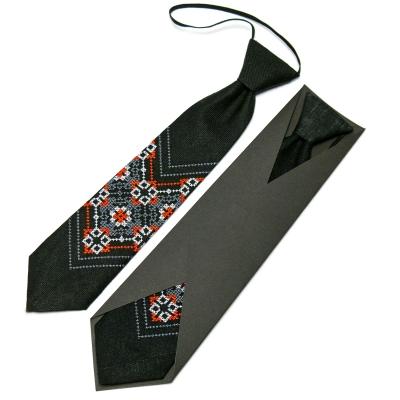 Дитяча вишита краватка з льону №674