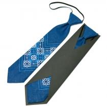 Дитяча вишита краватка з льону №675