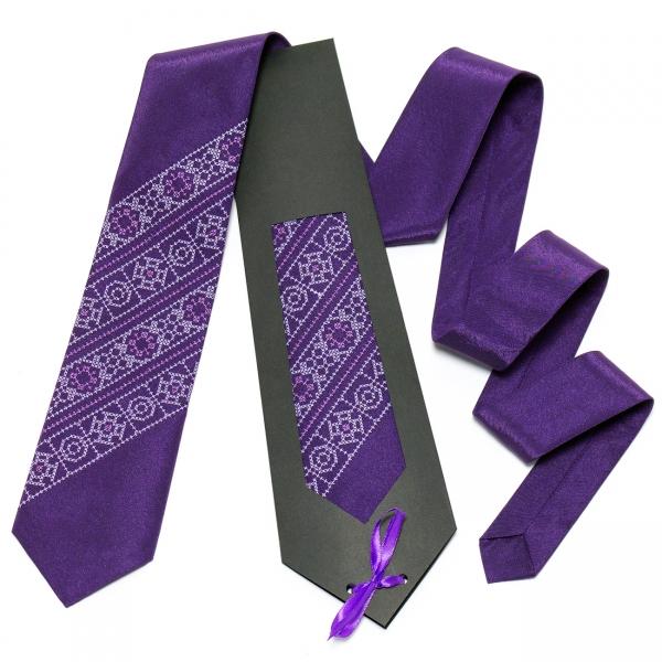 Фіолетова краватка №614