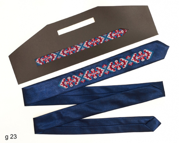 Вузький галстук з вишивкою Славомил