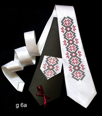 Галстук з вишивкою Білокур