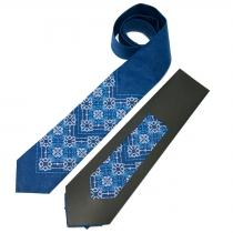 Вишита краватка з льону №676