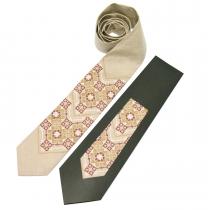 Вишита краватка з льону №677