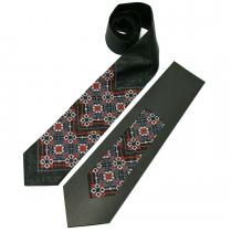 Вишита краватка з льону №679