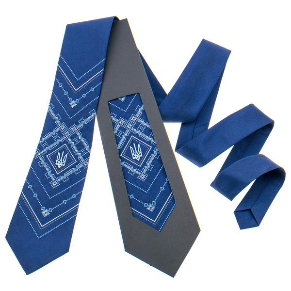 Вишита краватка з тризубом №819