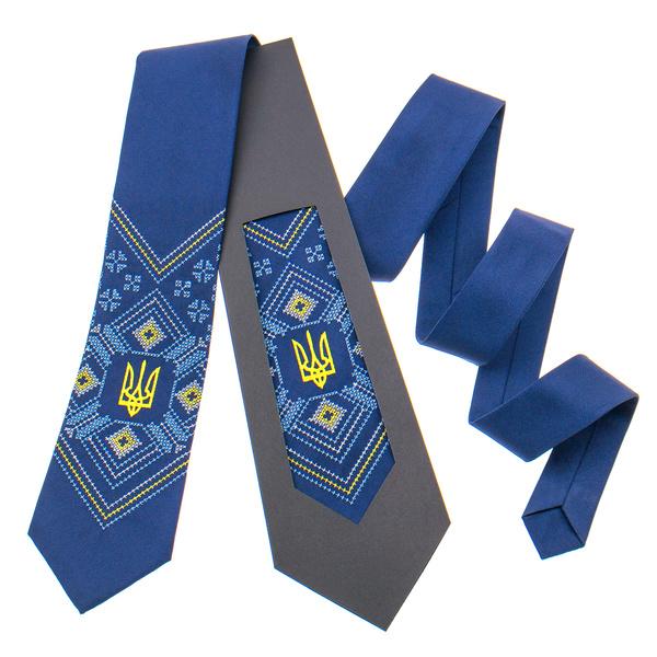 Вишита краватка з тризубом №821