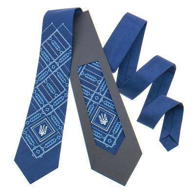 Вишита краватка з тризубом №822