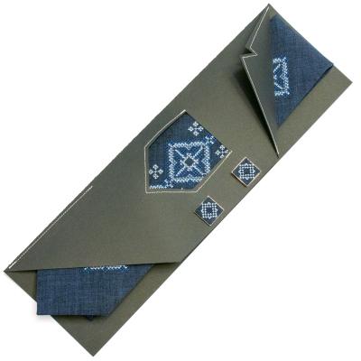 Вишита краватка із запонками Малига
