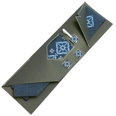 Вишитий набір Сухан краватка + зажим + запонки