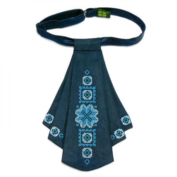 Жіноча краватка жабо синя