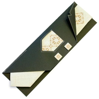 Вишита краватка із запонками Горан