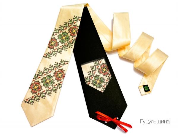 Краватка з вишивкою Гуцульщина
