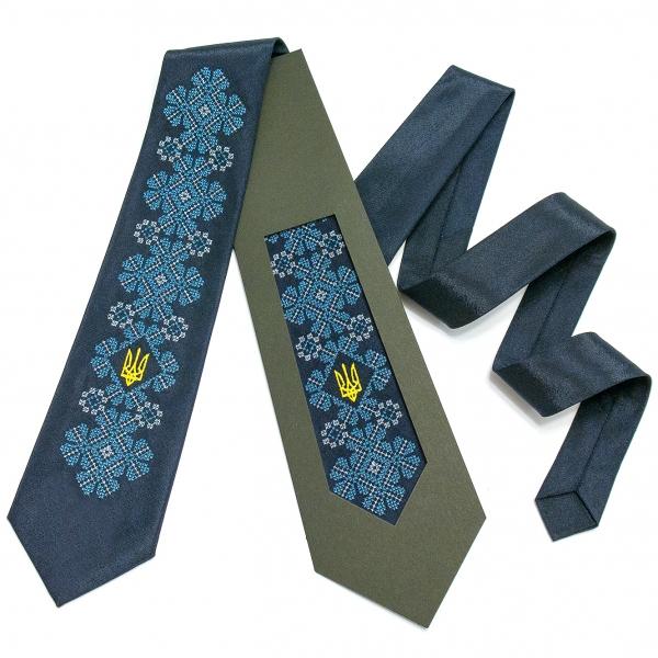 Вишита краватка з тризубом Києслав