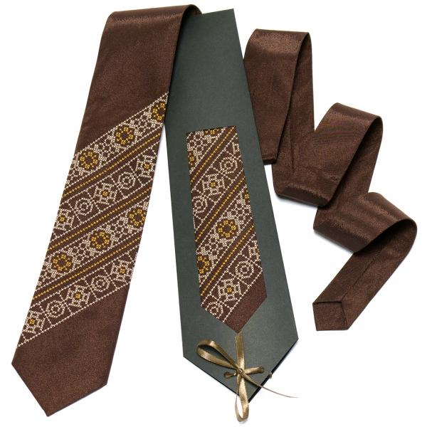 Коричнева краватка №611