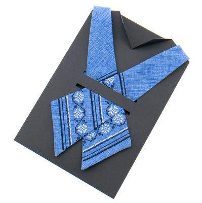 Вишита крос краватка №870
