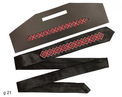 Вузький галстук з вишивкою Лоліт
