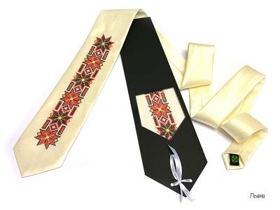 Краватка з вишивкою Львів