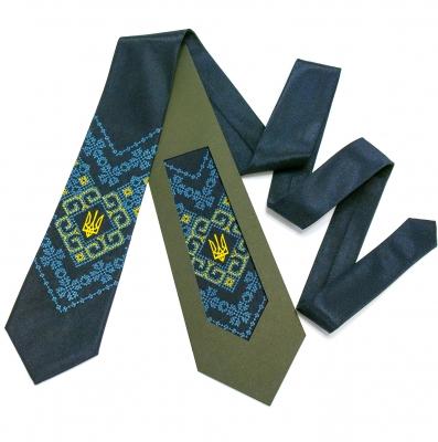 Вишита краватка з тризубом Мирослав