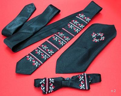 Чоловічий набір: краватка, метелик, хустинка