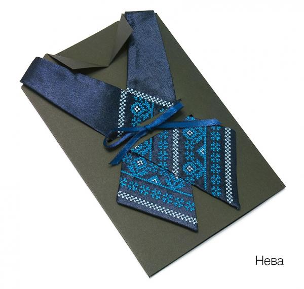 Крос-галстук з вишивкою Нева
