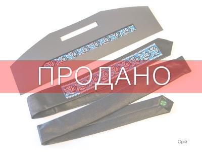 Вузький галстук з вишивкою Орій