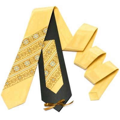 Пісочно-жовта краватка №612